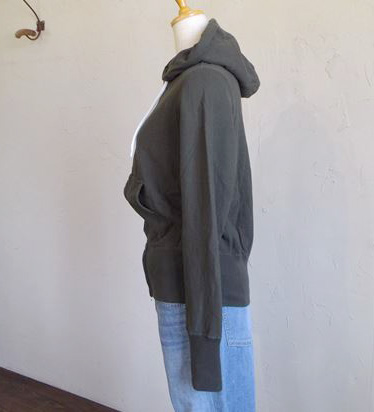 ORG/french latch pile w/zip parka(カーキ)