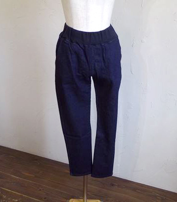back brushed denim slim pants(ワンウォッシュ)