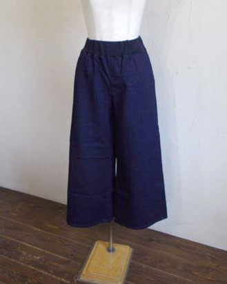 back brushed denim wide pants(ワンウォッシュ)