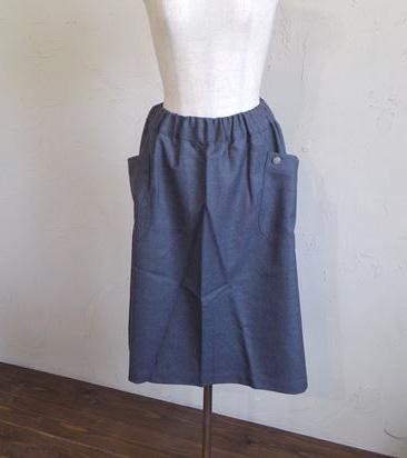 saxony skirt +concho(チャコール)