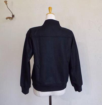 melton knit bulson+concho(ブラック)