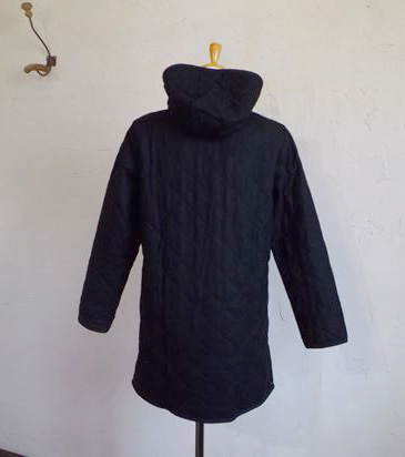 UK tweed ORG/quilt Hooded coat(ブラック)