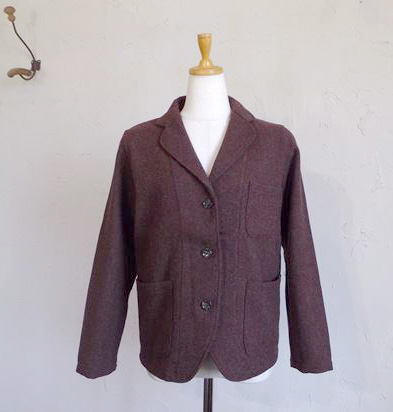 wool cotton tweed JK(ブラウン)