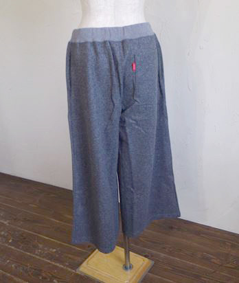 melton knit wide pants(グレー)