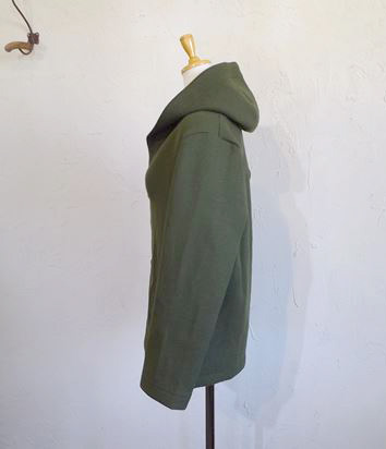 ITALY beaver cloth Hooded Half Coat(カーキ)