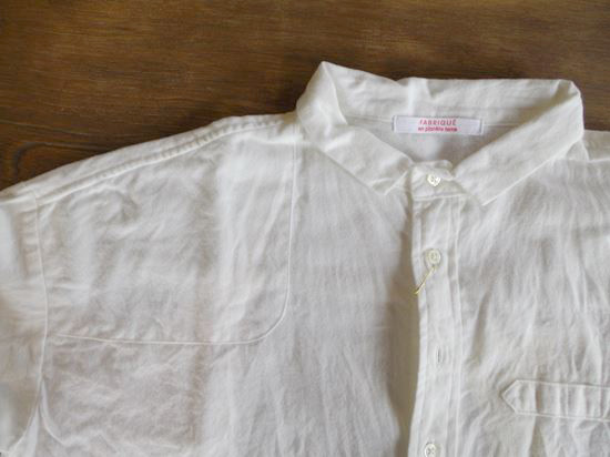 cotton flannel farm woman shirts(ホワイト)