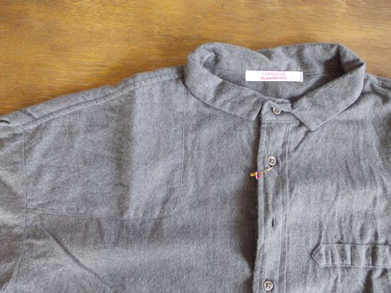 cotton flannel farm woman shirts(グレー)