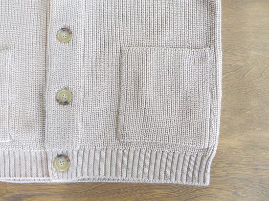 AUSTRALIA Super Fine merino wool rib cardigan(ベージュ)