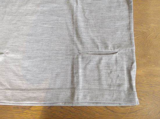 washable wool high-neck wide<br />(グレー)