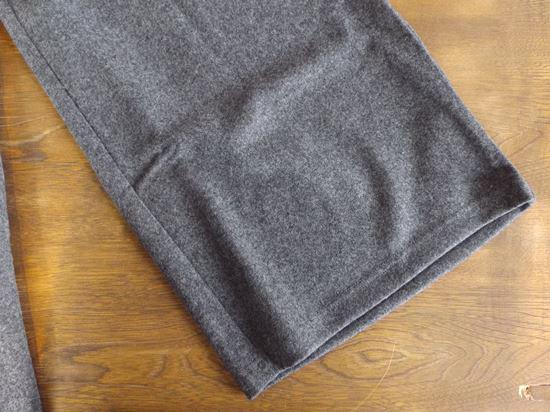 melton knit wide pants(グレー)