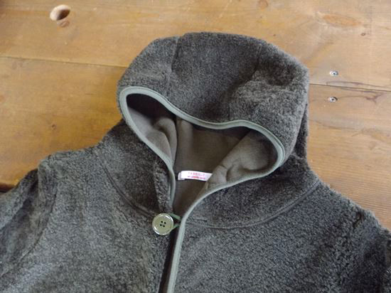 toypoodle sweat hooded coat(カーキ)
