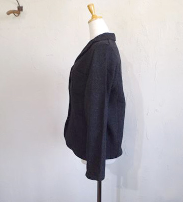wool cotton tweed JK(チャコール)